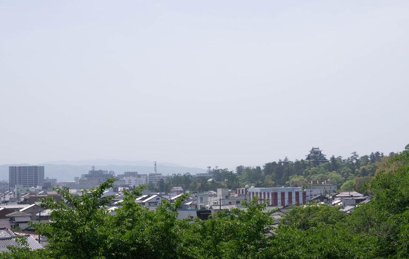 境内から見える松江城